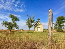 one room school house and fencepost