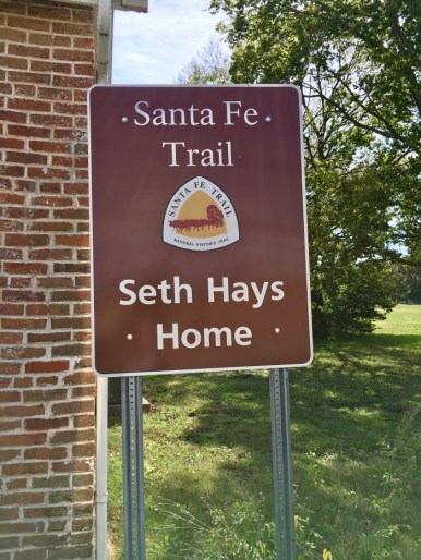 sign for Seth Hays home Council Grove, Kansas