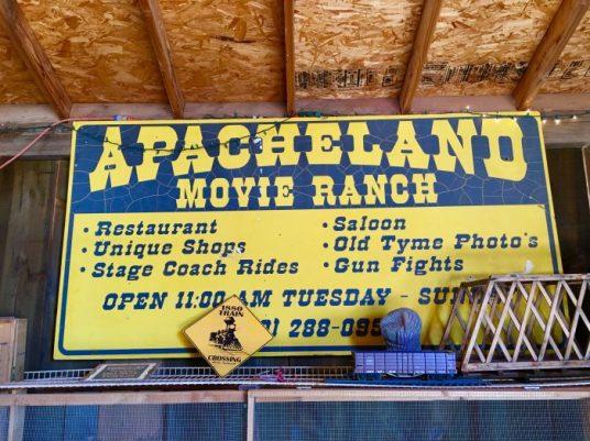 Apacheland Movie Ranch sign