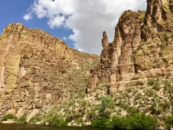 cliffs over Canyon Lake Arizona