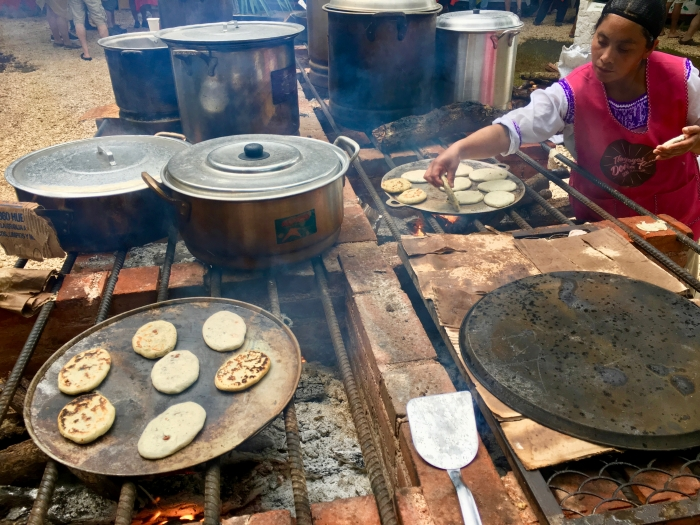 woman cooking authentic Mexican food