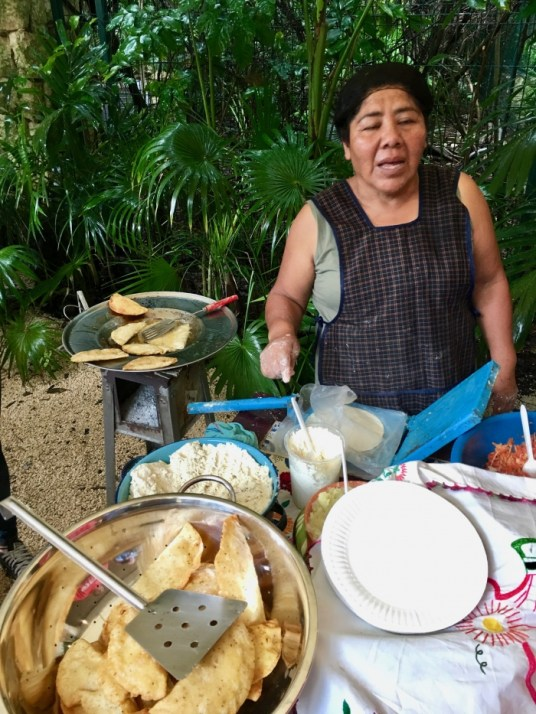woman cooking traditional Mexican food