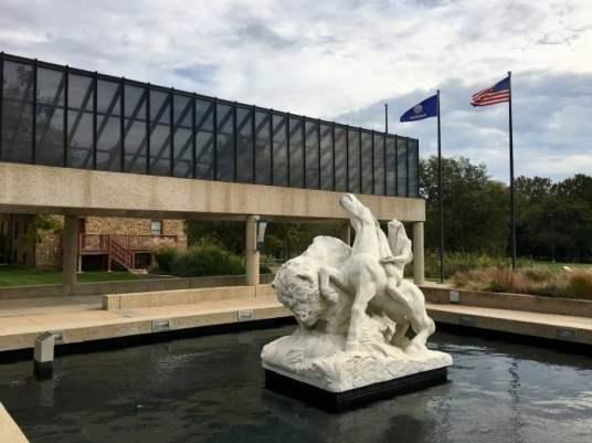 Kansas Museum of History statue