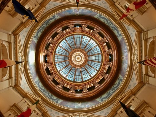 Kansas State Capitol inside dome