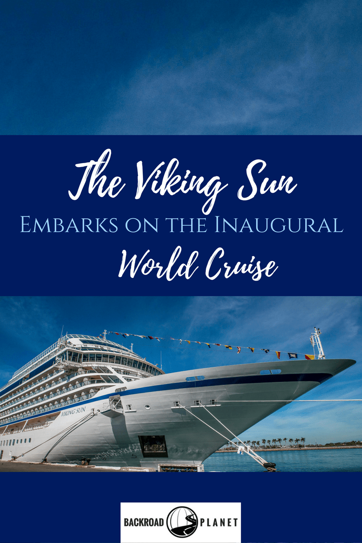 The Viking Sun embarks on the inaugural World Cruise from Miami to London. This 141-day cruise will visit 5 continents, 35 countries, and 64 ports,cross the Equator twice, the International Date Line once, and pass through both the Panama and Suez Canals. #travel #TBIN #cruises #RTW #VikingCruises