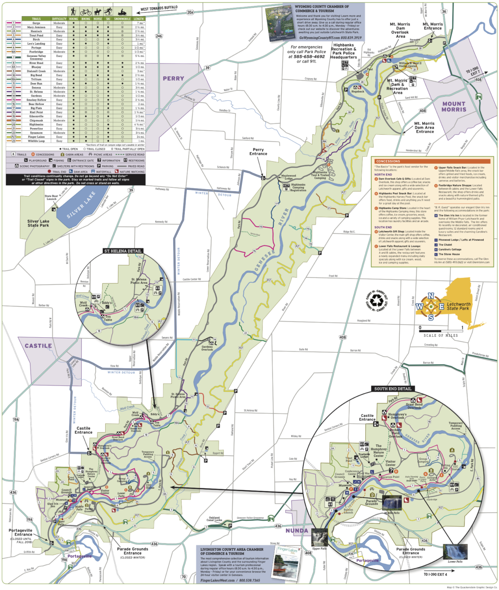 Letchworth State Park Campground Map