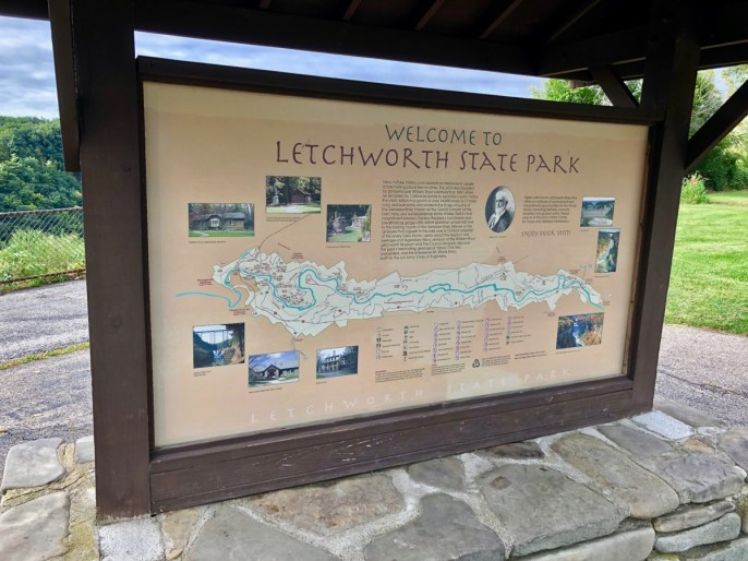 Welcome to Letchworth sign