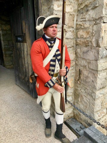 British redcoat holding rifle