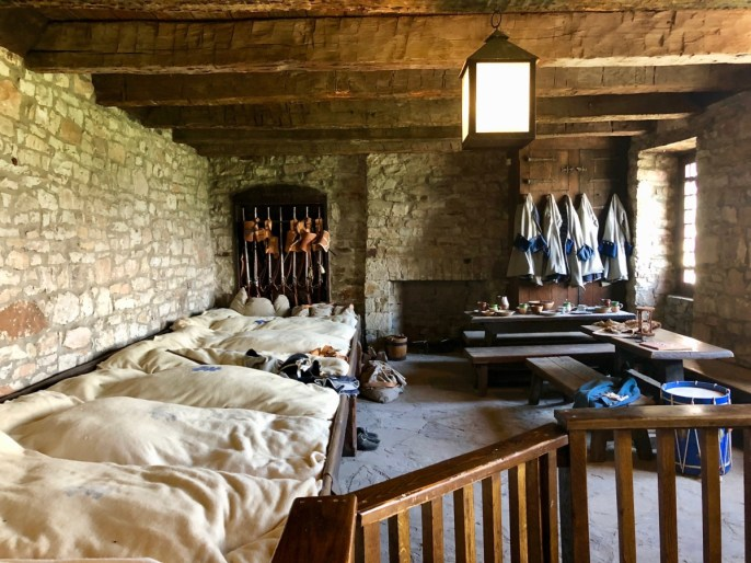 soldier quarters at old Fort Niagara