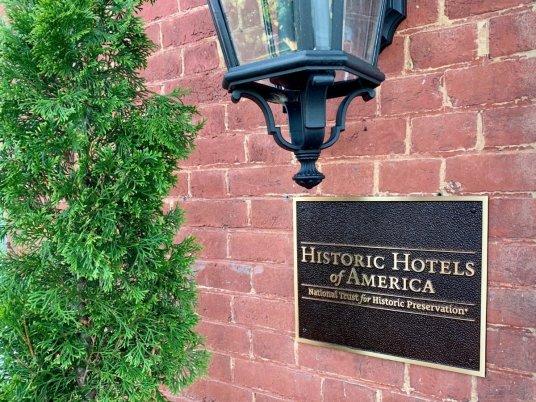 Blackburn Inn Historic Hotel Sign