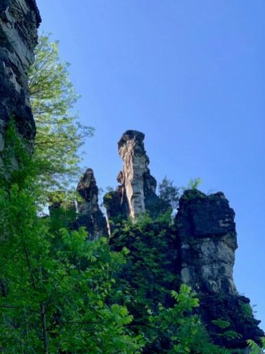 Natural Chimney Against Sky