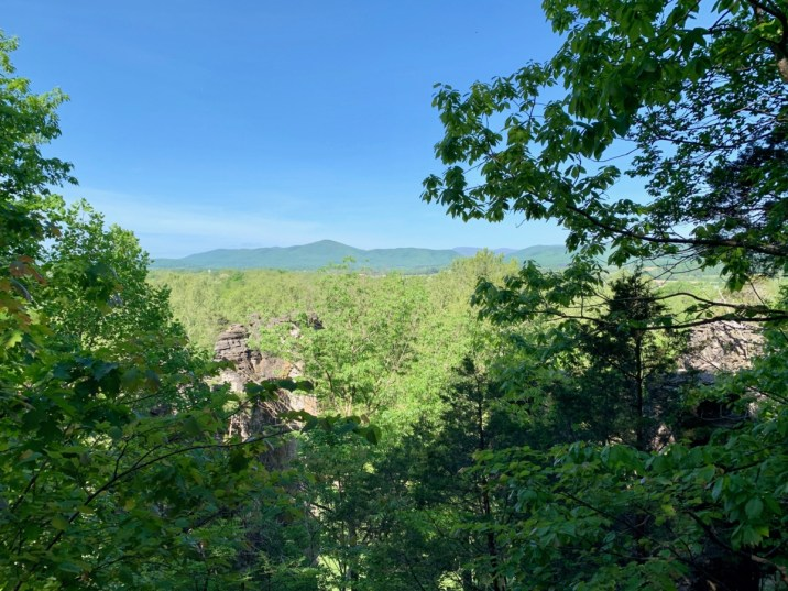 Natural Chimneys Overlook View - Fun Things to Do in Staunton Virginia