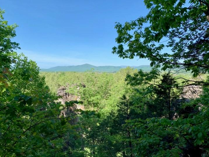 Natural Chimneys Overlook View