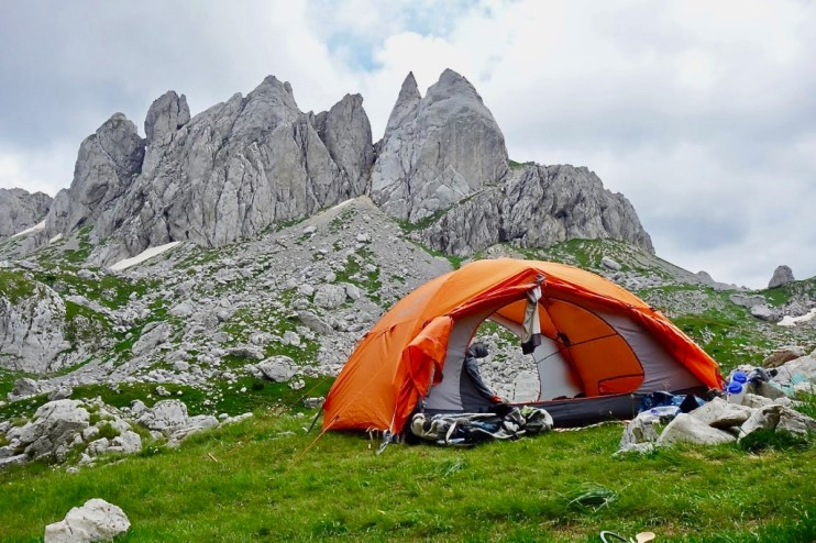 Tent with pinnacle rocks - Roadtripping, Hiking & Camping Montenegro Best Places