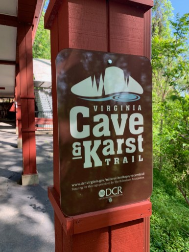 Virginia Cave & Karst Trail Sign