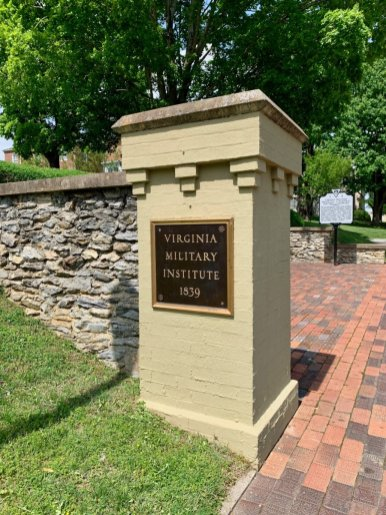 Virginia Military Institue Sign - Scenic & Historic Things to Do in Lexington, Virginia