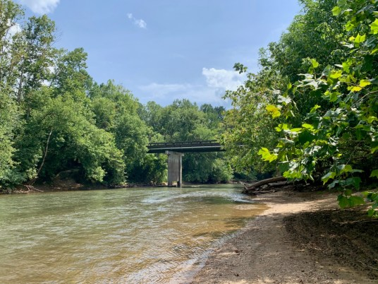 Gober Beach and Bridge over Etowah River