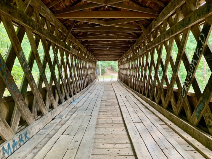 Poole's Mill Covered Bridge Interior