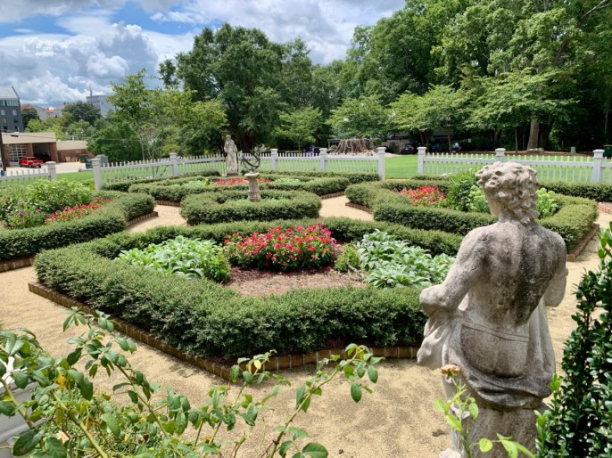 Lyndon House formal gardens Athens GA
