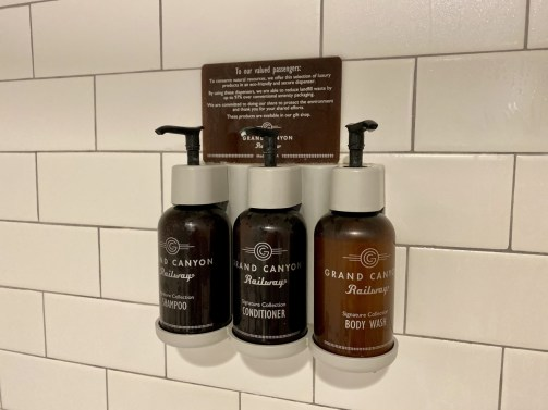 Grand Canyon Railway Hotel toiletries - Take the Train to Grand Canyon National Park: An Insider's Guide