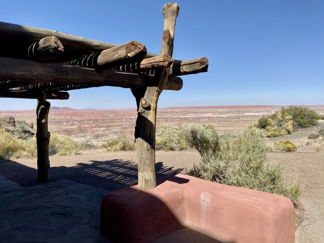 Painted Desert Inn beams - Drive the Painted Desert & Petrified Forest National Park