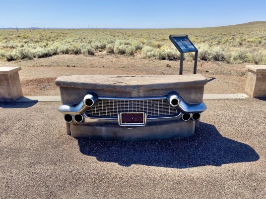 Petrified Forest NP Route 66 marker