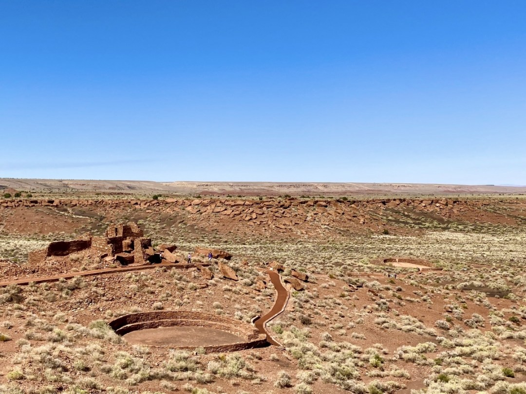 Wupatki Pueblo circles - 3 Magnificent Flagstaff National Monuments
