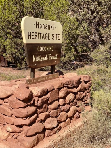 Honanki Heritage Site sign - 3 Stunning Sedona Scenic Drives