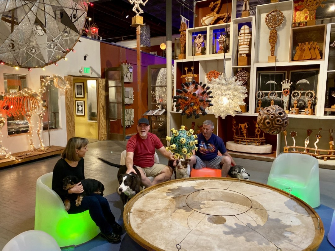 Snowdrift Art Space dogs - Tons of Fun Things to Do in Winslow Arizona