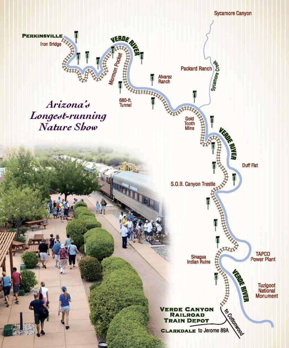 Verde Canyon Railroad Route Map - Ride Arizona's Verde Canyon Railroad