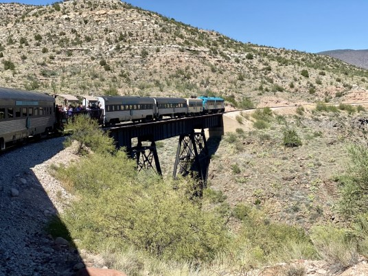 Verde Canyon Railroad trestle - Ride Arizona's Verde Canyon Railroad