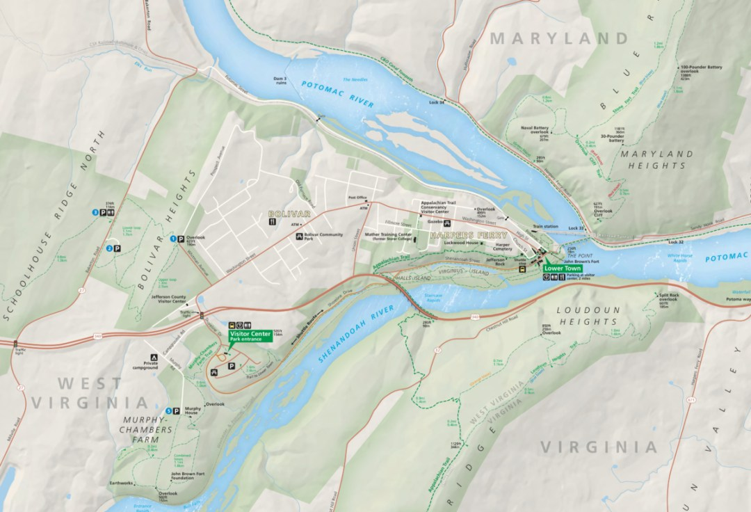 Harpers Ferry Map NPS - Things to Do in Harpers Ferry WV: History, Hikes & Whitewater