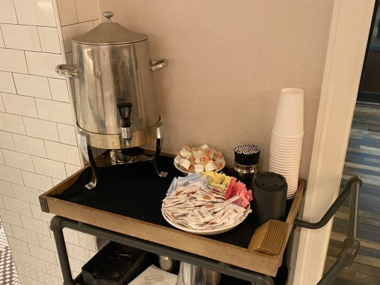 Hotel Indigo coffee station - Explore African American Heritage Sites in Hattiesburg MS