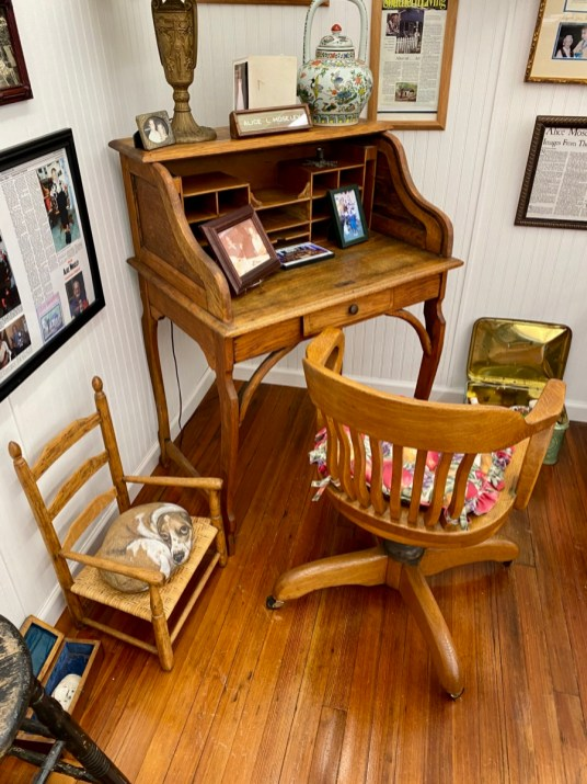 Alice Moseley desk and chair - Meet Three Unconventional Coastal Mississippi Artists