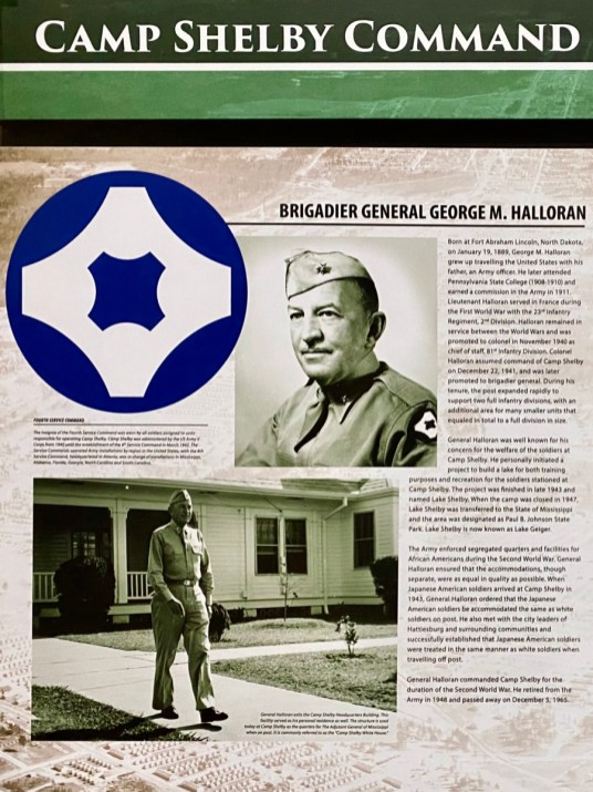 Brigadier General George M. Halloran panel - Visit the Mississippi Armed Forces Museum at Camp Shelby