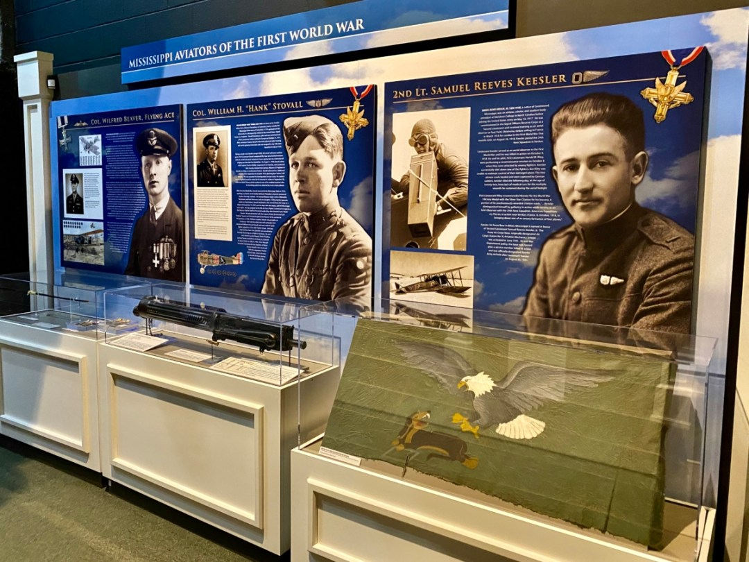 MS WWI Aviators exhibit - Visit the Mississippi Armed Forces Museum at Camp Shelby