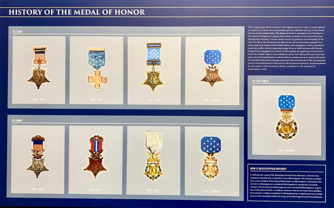 Medal of Honor panel - Visit the Mississippi Armed Forces Museum at Camp Shelby