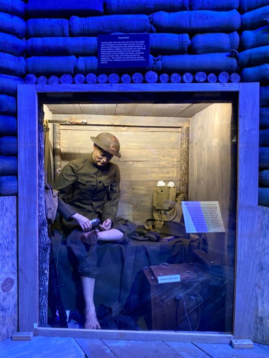 Trench Foot exhibit - Visit the Mississippi Armed Forces Museum at Camp Shelby