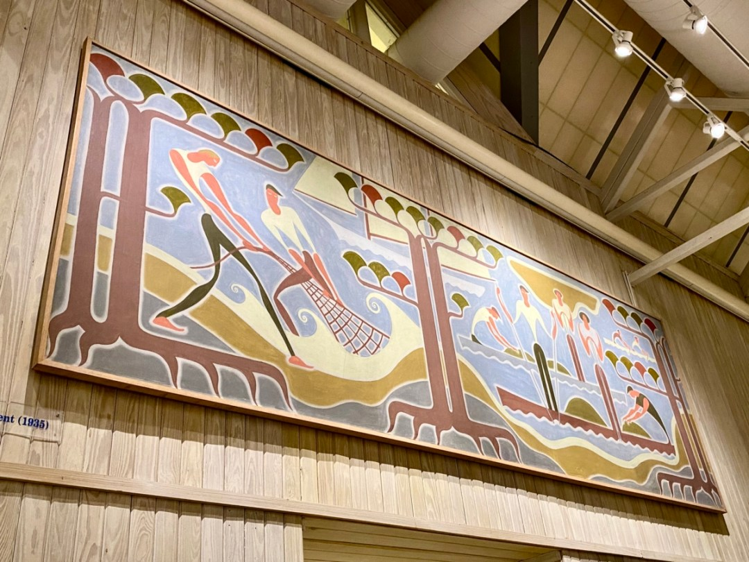 Walter Anderson WPA mural - Meet Three Unconventional Coastal Mississippi Artists