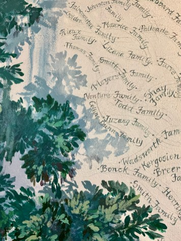 Christ in the Oak mural names - Discover Coastal Mississippi's African American Heritage