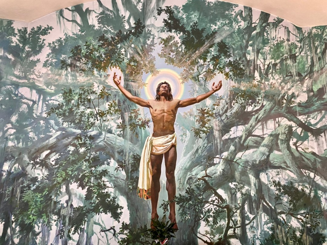 Christ in the Oak mural - Discover Coastal Mississippi's African American Heritage