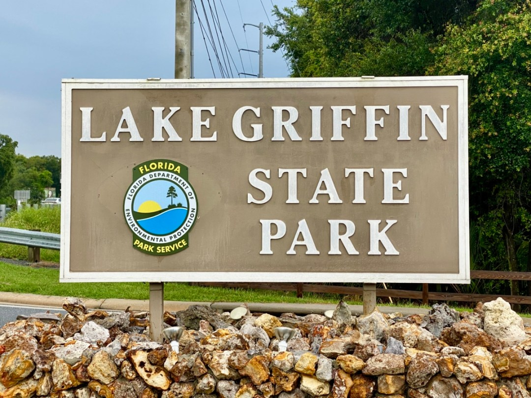 Lake Griffin State Park sign - Discover Lake County Florida Outdoor Adventures