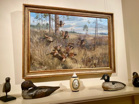 Flushed quail painting George Browne - Encounter Historic Quail Hunt Plantations in Thomasville GA