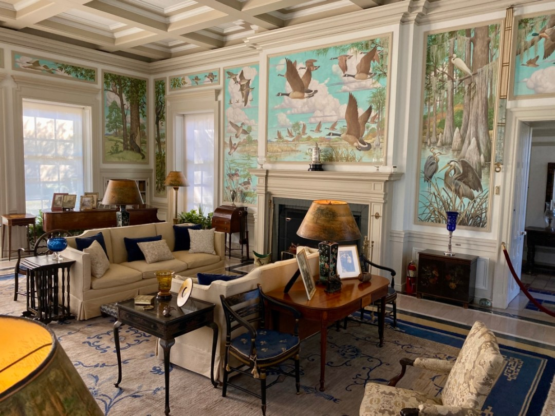 Pebble Hill drawing room - Encounter Historic Quail Hunt Plantations in Thomasville GA