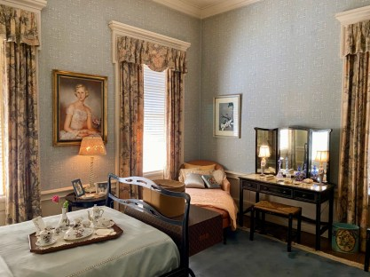 Pebble Hill ladies blue suite - Encounter Historic Quail Hunt Plantations in Thomasville GA