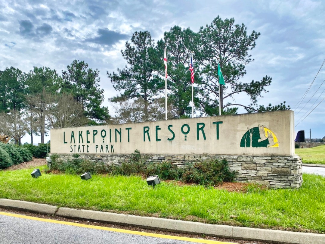 Lakepoint Resort State Park sign - Outdoor & Historical Things to Do in Eufaula Alabama