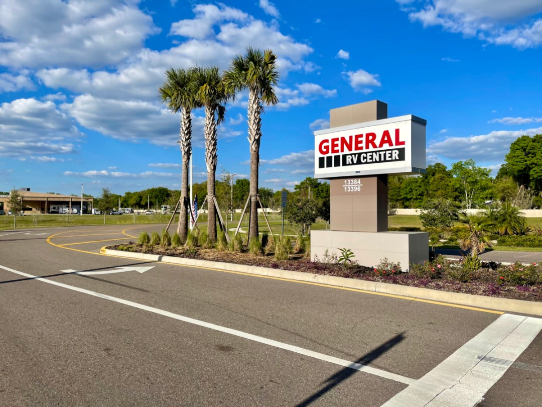 General RV Center sign - A Guide for Buying a Camper Van: My Story & Lessons Learned