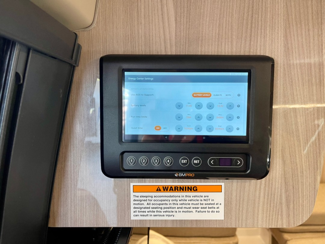 BMPro Touchscreen - A Guide for Buying a Camper Van: My Story & Lessons Learned