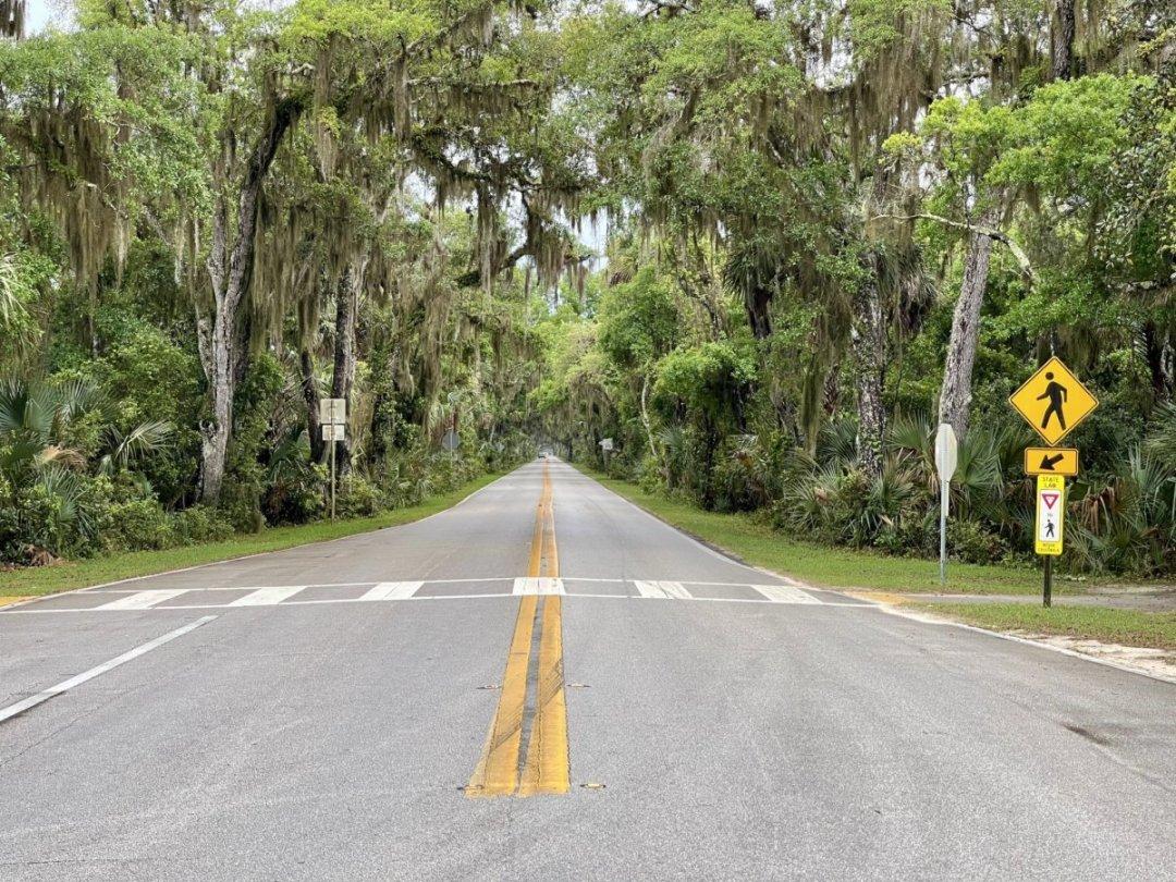 Old Dixie Highway Tomoka SP Entrance - Florida's Tomoka State Park Camping, Recreation & History