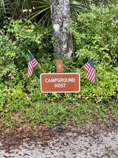 campground host sign - Florida's Tomoka State Park Camping, Recreation & History